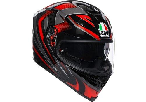 AGV K-5 S Hurricane 2.0 Helmet Black Red