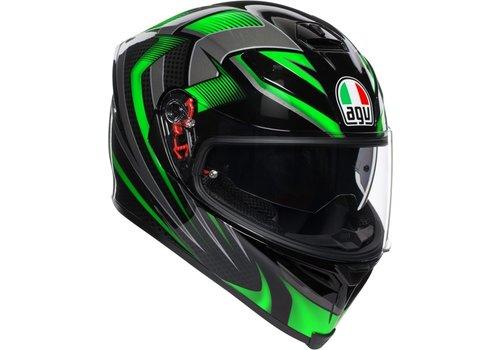 AGV K-5 S Hurricane 2.0 Helmet Black Green