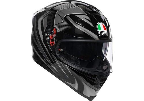AGV K-5 S Hurricane 2.0 Helmet Black Silver