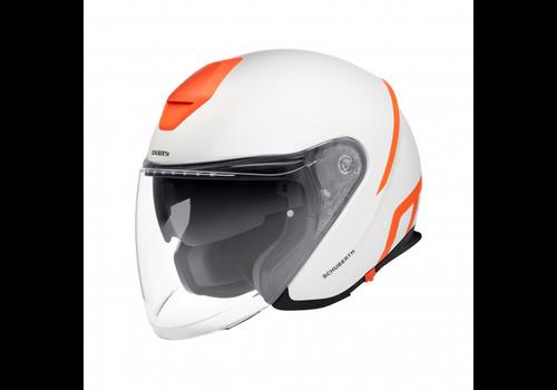 Schuberth M1 Pro Strike Helm White Orange