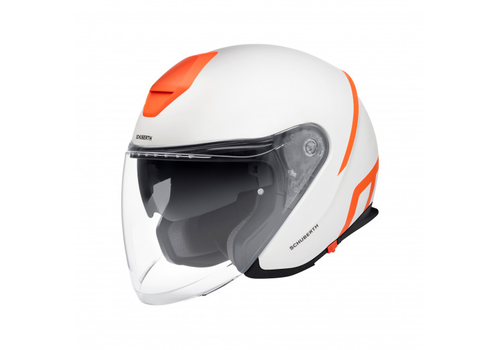 Schuberth M1 Pro Strike Helmet White Orange