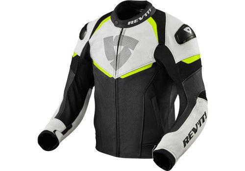 Revit Convex Leather Jacket Black Fluo Yellow