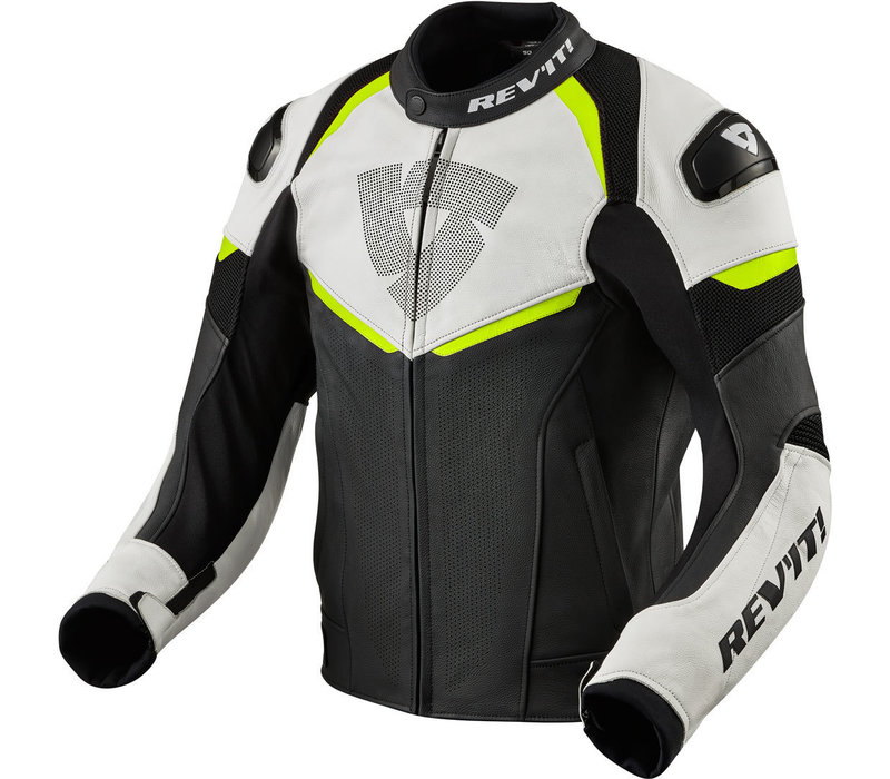 Buy Revit Convex Leather Jacket Black Fluo Yellow? Free Shipping!