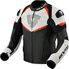 Revit Buy Revit Convex Leather Jacket Black Fluo Red? Free Shipping!