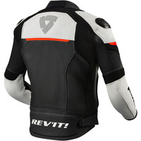 Buy Revit Convex Leather Jacket Black Fluo Red? Free Shipping!