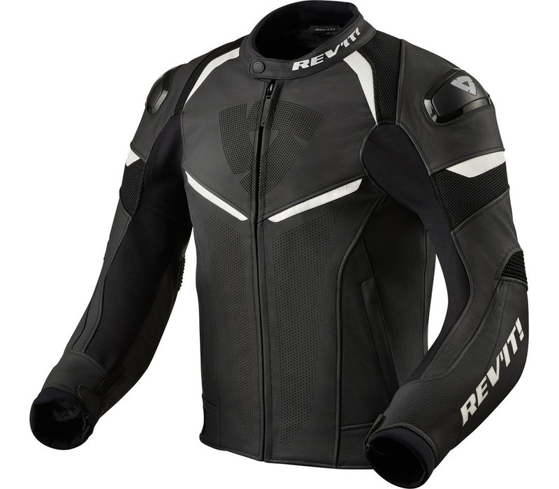 Buy Revit Convex Leather Jacket Black White? Free Shipping!