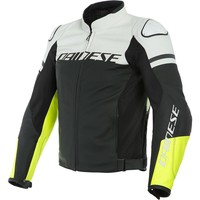 Dainese Agile Leather Jacket Black White + 50% discount on the Pants!