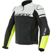 Кожаные Куртка Dainese Agile черный Белое + 50% скидка на штаны