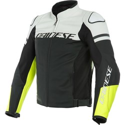 Dainese Dainese Agile Leather Jacket Black White + 50% discount on the Pants!