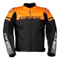 Кожаные Куртка Dainese Agile черный оранжевый + 50% скидка на штаны