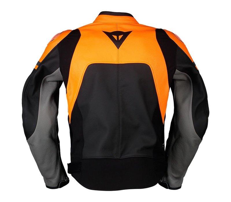 Dainese Agile Leather Jacket Black Orange + 50% discount on the Pants!