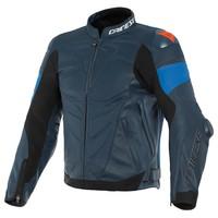 Кожаные Куртка Dainese Super Race черный Синий + 50% скидка на штаны