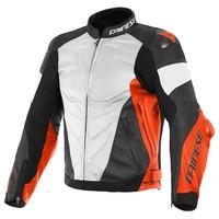 Кожаные Куртка Dainese Super Race Белое Красный Черный + 50% скидка на штаны