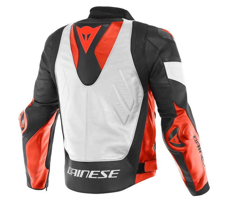 Dainese Super Race Leather Jacket White Red Black + 50% discount on the Pants!