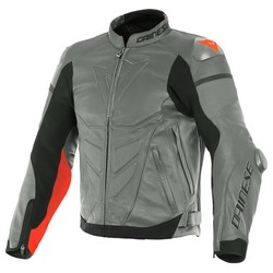 Dainese Dainese Super Race Leather Jacket Grey Red + 50% discount on the Pants!