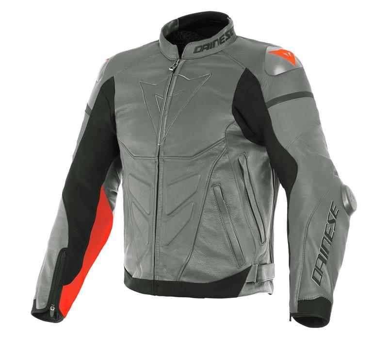 Кожаные Куртка Dainese Super Race Серый красный + 50% скидка на штаны