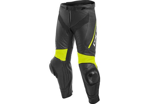 Dainese Delta 3 Кожаные штаны Черный желтый Fluo