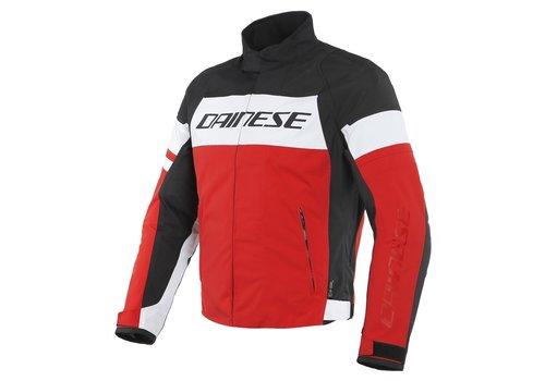 Dainese Saetta D-Dry Jacke Weiß Rot Schwarz