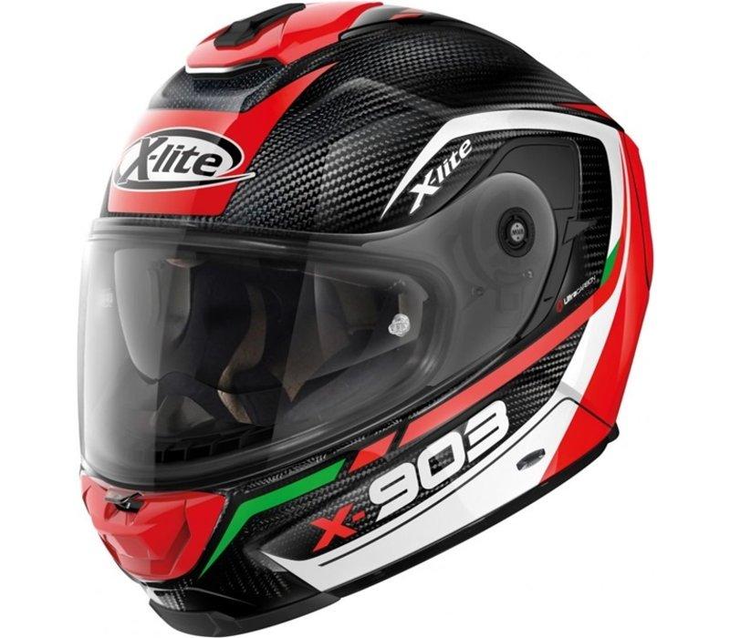 Buy X-Lite X-903 Ultra Carbon Cavalcade 010 Helmet? Free Additional Visor!
