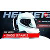 Shoei Casque Shoei GT-AIR 2 Crossbar TC-6 Intégrale 360 Vidéo