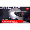 Shoei Casque Shoei GT-AIR 2 Helles Silber 360 Vidéo