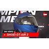 Shoei Casco Shoei GT-AIR 2 Blu opaco 360 Video