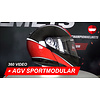 AGV AGV Sportmodular Aero Carbon Red Helmet 360 Video