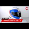 Shark Casque Shark Spartan 1.2 Blanc brillant 360 Vidéo