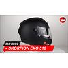 Scorpion Casque Scorpion EXO 510 Air Solid 360 Vidéo