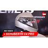 Schuberth Casco Schuberth C4 Pro Argento lucido 360 Video