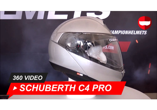 Schuberth Schuberth C4 Pro Glanzend Zilver 360 Video