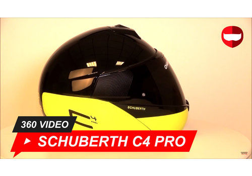 Schuberth Schuberth C4 Pro Swipe Black Yellow Glossy 360 Video