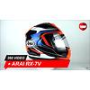 Arai Arai RX-7V Maze Rot Helm 360 Video