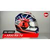 Arai Arai RX-7V Pedrosa Spirit Blau Helm 360 Video