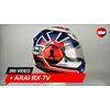 Arai Arai RX-7V Pedrosa Spirit Blauw Helm 360 Video