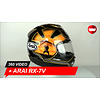 Arai Arai RX-7V Pedrosa Spirit Gold  Helm 360 Video