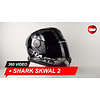 Shark Shark Skwal Trion Black Chrome Anthracite Helmet 360 Video