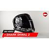 Shark Shark Skwal Trion Schwarz Chrome Anthracite Helm 360 Video