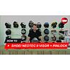 Shoei Hoe vervang je het vizier en de Pinlock lens van de Shoei Neotec 2