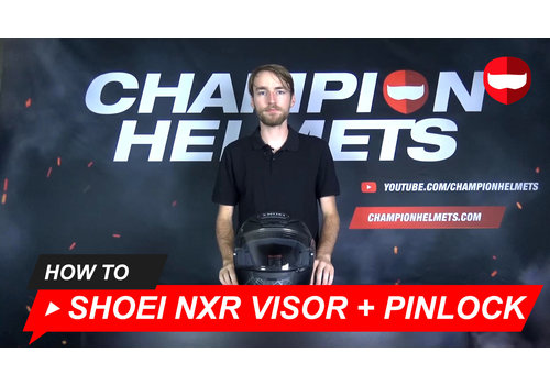 Shoei How to replace the visor and the Pinlock lens of the Shoei NXR