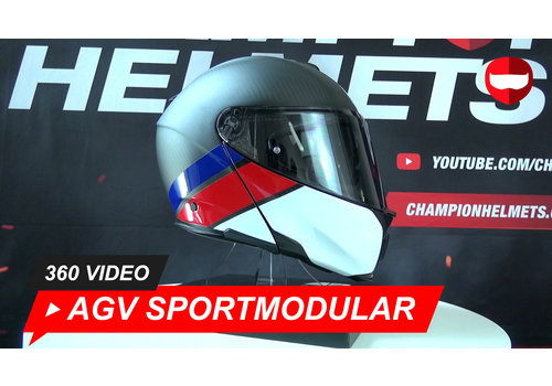 AGV AGV Sportmodular layer Carbon Rouge Bleu 360 Video