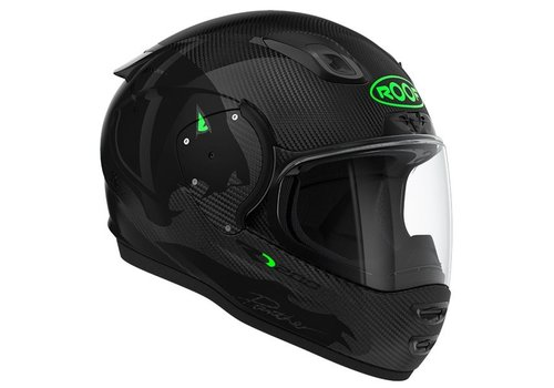 ROOF RO 200 Carbon Panther black Fluo green Helmet