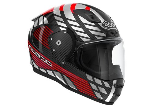 ROOF RO 200 Carbon Speeder Red Silver Helmet