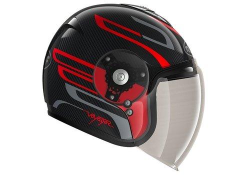 ROOF Voyager Carbon Arrow Red Steel Helmet