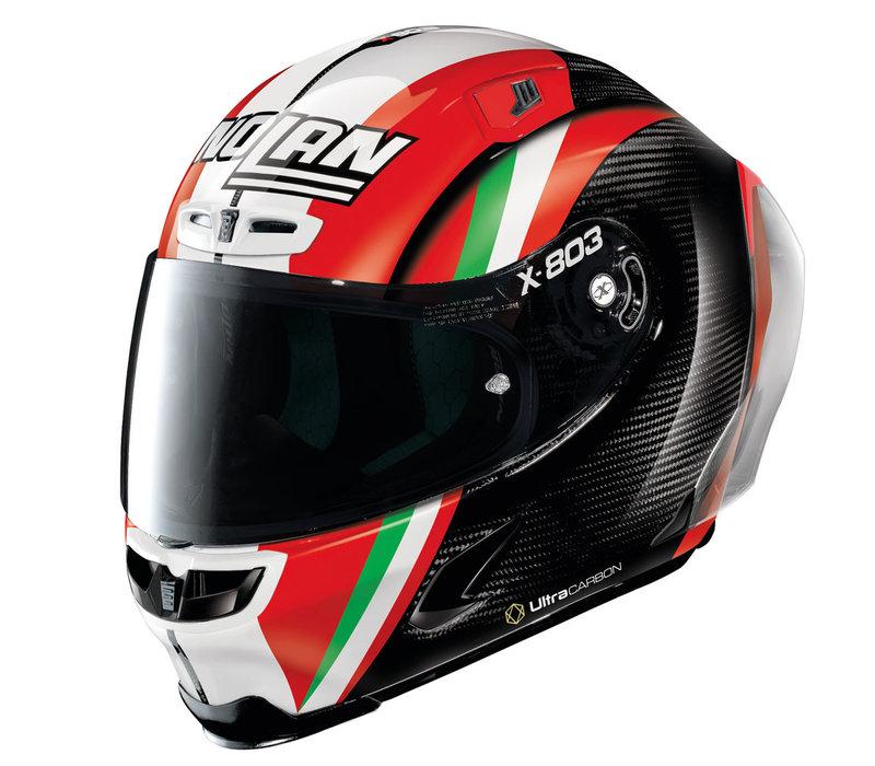 X-Lite X-803 RS Ultra Carbon Stoner Together Replica Helm kopen? Gratis Extra Donker Vizier!
