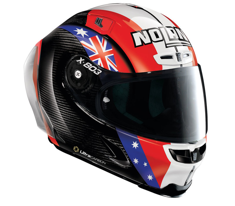 Buy X-Lite X-803 RS Ultra Carbon Stoner Together Replica Helmet? Free Additional Dark Smoke Visor!