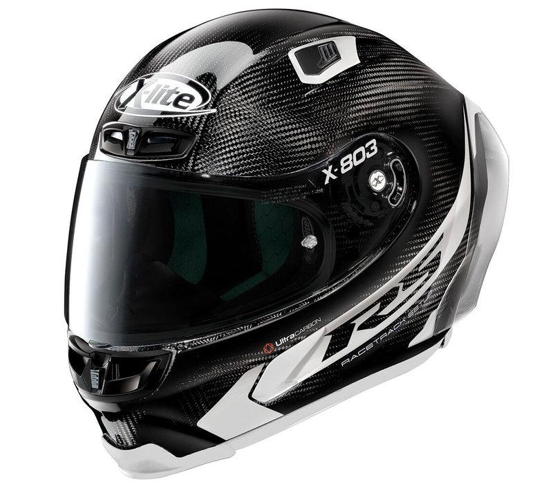 Buy X-Lite X-803 RS Ultra Carbon Hot Lap White Helmet? + Free Additional Dark Smoke Visor!