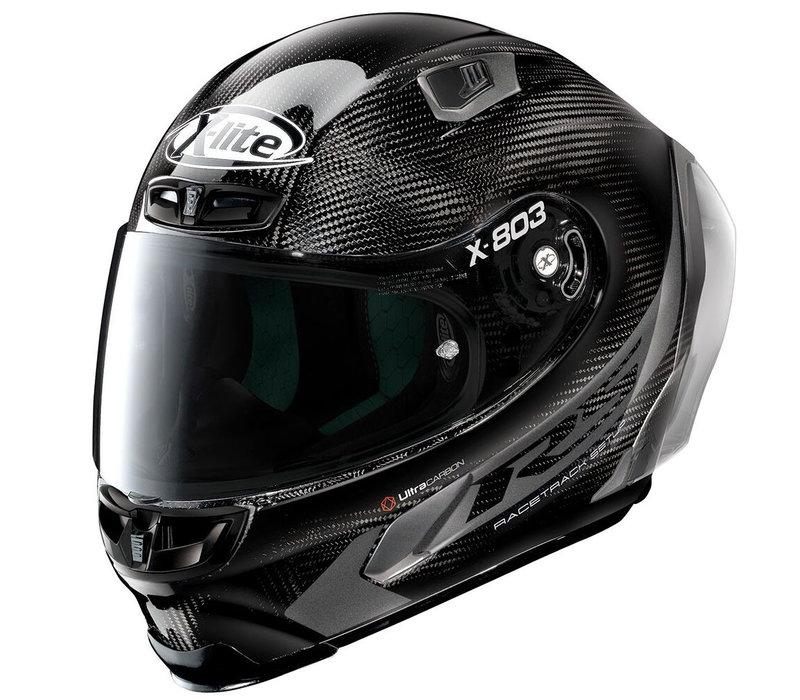 X-Lite X-803 RS Ultra Carbon Hot Lap Zwart Helm kopen? Gratis Extra Donker Vizier!
