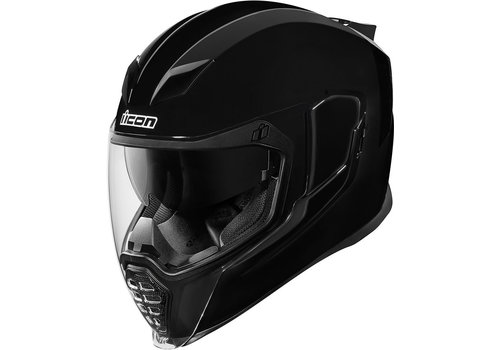 ICON Airflite Gloss Solids Black Helmet