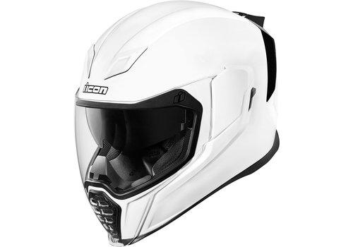 ICON Airflite Gloss Solids White Helmet